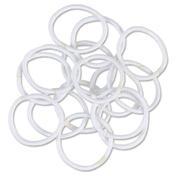 Solida Haargummi metallfrei Weiß