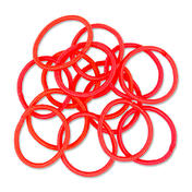 Solida Haarband metaalvrij Red