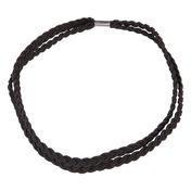 Solida Gevlochten haarband Zwart