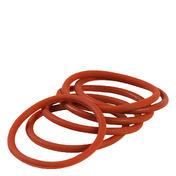 Solida Élastiques pour cheveux en silicone brun