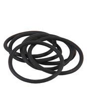 Solida Élastiques pour cheveux en silicone noir