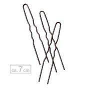 BHK Haarnadeln gewellt Braun, ca. 7 cm, 20 Stück