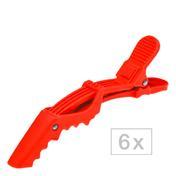 Efalock Shark Clip Soft rouge, Par paquet 6 pièces