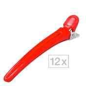 Efalock Haarclips Rot, Pro Packung 12 Stück