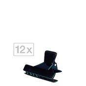 Efalock Abteilklammern Schwarz, Pro Packung 12 Stück