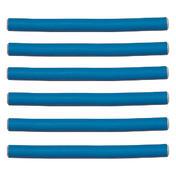 Efalock Bigoudis flexibles bleus, Ø 14 mm, Par paquet 6 pièces