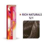 Wella Color Touch Rijke natuurproducten 5/1 Lichtbruine as