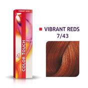 Wella Color Touch Levendig Rood 7/43 Medium Blond Rood Goud
