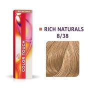Wella Color Touch Rijke natuurproducten 8/38 Licht Blond Goud Parel