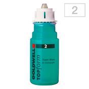 Goldwell TOPform Foam Wave Portion 2 - für poröses und gefärbtes Haar, Portionsflasche 90 ml