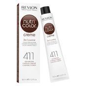 Revlon Professional Nutri Color Creme 411 Kastanie Tube 100 ml