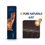 Wella Koleston Perfect ME+ Pure Naturals 4/07 Mittelbraun Natur Braun, 60 ml