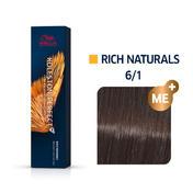 Wella Koleston Perfect Rich Naturals 6/1 Dunkelblond Asch, 60 ml