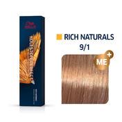 Wella Koleston Perfect Rich Naturals 9/1 Lichtblond Asch, 60 ml