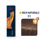 Wella Koleston Perfect Rich Naturals 7/1 Mittelblond Asch, 60 ml
