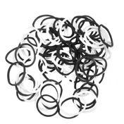 Dynatron Élastiques pour cheveux rasta noir-blanc
