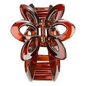 H+B Italia Pince à cheveux avec fleur havane