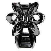 H+B Italia Haarklammer Blume Schwarz