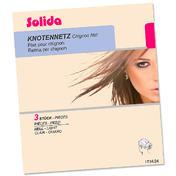 Solida Filets en perlon pour chignon clair, Par paquet 3 pièces