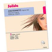 Solida Filets en perlon pour chignon foncé, Par paquet 3 pièces