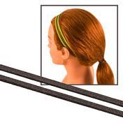 Solida Bandeau antidérapant pour cheveux noir, Par paquet 2 pièces