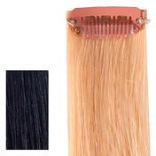 """hair4long Quick Clip Menselijk Haar Strand """"Rock Zwart"""