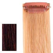 hair4long Mèches « Rock » en cheveux naturels Quick Clip brun clair brun naturel