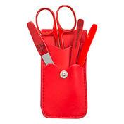 Drei Schwerter Maniküre Etui Rot