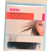 Solida Transparante netten met spandex Donker, Per verpakking 2 stuks