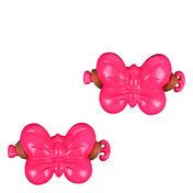 Solida Élastique papillon pour enfants rose, Par paquet 2 pièces