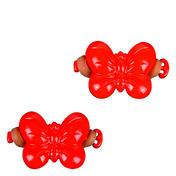 Solida Élastique papillon pour enfants rouge, Par paquet 2 pièces