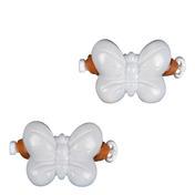 Solida Élastique papillon pour enfants blanc, Par paquet 2 pièces