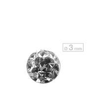 Schönes für den Körper Schraubkugel Schraubkugel Crystal Ø 3 mm