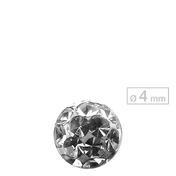 Schönes für den Körper Schraubkugel Schraubkugel Crystal Ø 4 mm