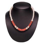 Dynatron Collier avec perles cuivré