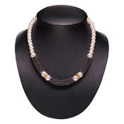 Dynatron Collier avec perles anthracite