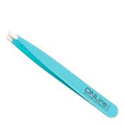 ONLine Pincet schuin INOX Turquoise