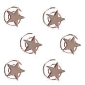 Solida Haarspirale Stern Silber