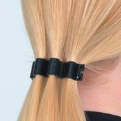 Solida Haarspange Wavy Schwarz