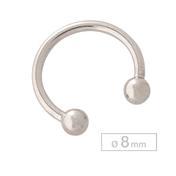 Schönes für den Körper Cirkelvormige Barbell Titanium 8 mm Binnenkant