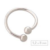 Schönes für den Körper Spiraal titanium Staaflengte 8 mm