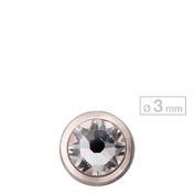 Schönes für den Körper Schraubkugel Schraubkugel Titan Zirkonia Ø 3 mm