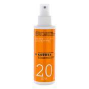 KORRES Émulsion solaire au yaourt pour le visage et le corps SPF 20, 150 ml