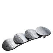 Dynatron Haarspange Kreise Silberfarben