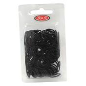 BHK Rasta Haargummi dick schwarz, Pro Packung 150 Stück