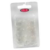 BHK Rasta Haargummi dick transparent, Pro Packung 150 Stück