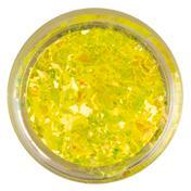 LCN Nail Art Crushed Glitter Neon Yellow