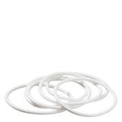 Dynatron Haargummi Weiß, Pro Packung 6 Stück
