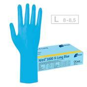 Meditrade Nitril 3000 X-Long Blue Handschuhe L, Pro Packung 100 Stück