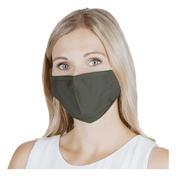 PARSA Waschbare Mund- und Nasenmasken für Erwachsene Khaki Uni